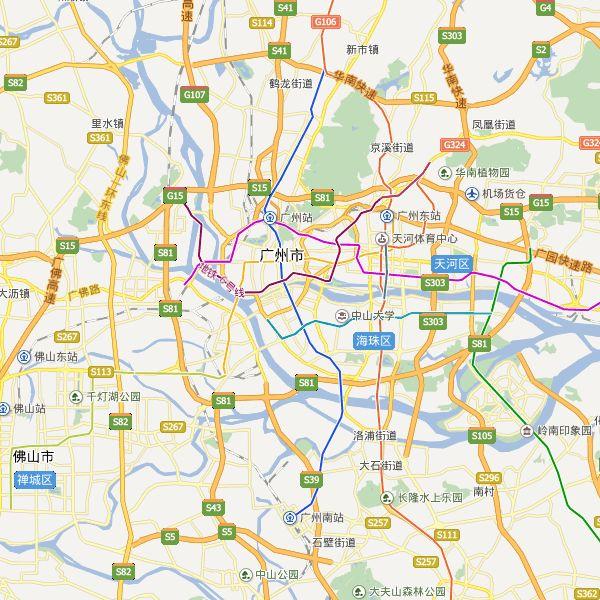Guangzhou City Map,Guangzhou China Map